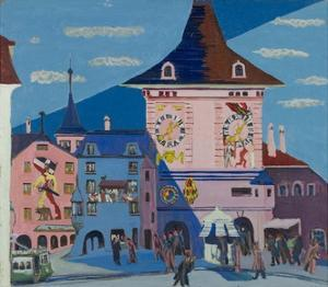Bern with Belltower, 1935 by Ernst Ludwig Kirchner