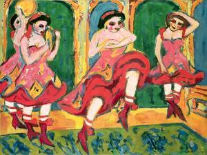 Czardas Dancers, 1908-20 by Ernst Ludwig Kirchner