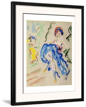 Dancer with a Blue Skirt by Ernst Ludwig Kirchner