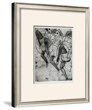 Dancers in Hamburg by Ernst Ludwig Kirchner