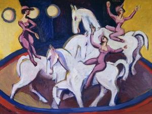 Jockeyakt by Ernst Ludwig Kirchner