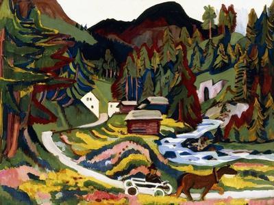 Landscape in Spring, Sertig, 1924-25