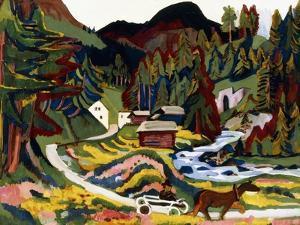 Landscape in Spring, Sertig, 1924-25 by Ernst Ludwig Kirchner