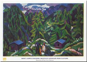Mountain Landscape by Ernst Ludwig Kirchner