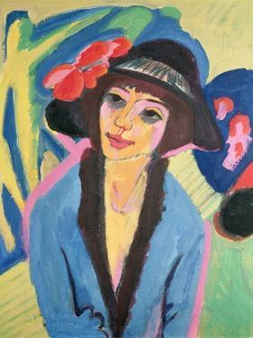 Portrait of Gerda by Ernst Ludwig Kirchner