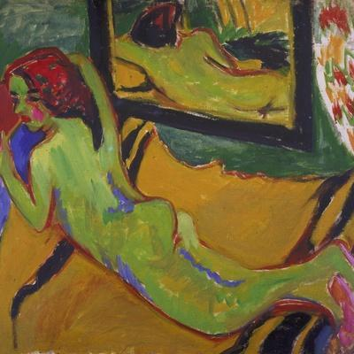 Reclining Nude in Front of Mirror, 1909/10