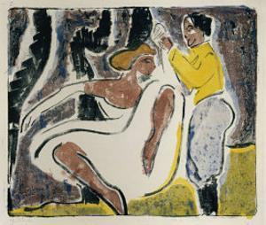 Russian Dancers by Ernst Ludwig Kirchner