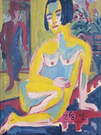 Seated Female Nude. Study, Ca 1921-1923