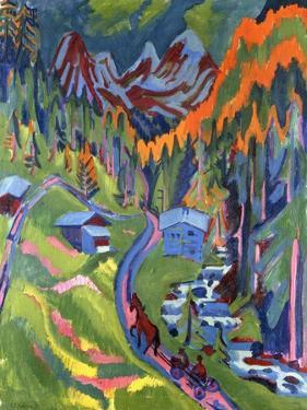Sertig Path in Summer; Sertigweg Im Sommer, 1923 by Ernst Ludwig Kirchner