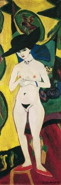 Standing Nude with Hat by Ernst Ludwig Kirchner
