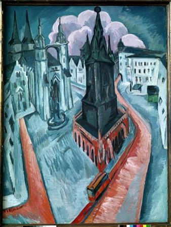 The Red Tower in Halle, 1915