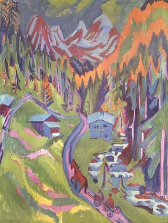 The Sertig Path in Summer, 1924