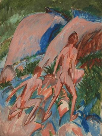Two Nude Figures in a Landscape, 1913