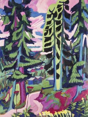 Wild Mountain (Mountain Forest; Summer Forest); Wildboden (Bergwald; Sommerlicher Waldweg),… by Ernst Ludwig Kirchner
