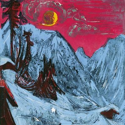 Winter Moonlit Night, 1919 by Ernst Ludwig Kirchner
