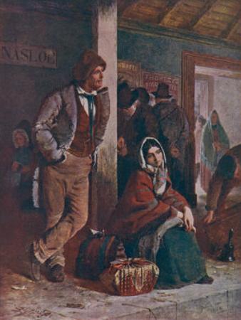 Irish Emigrants Waiting for Their Train