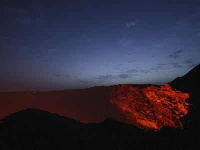 Erta Ale Morning Dawn Lavalake Reflection, Danakil Depression, Ethiopia