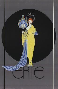 Goddess in Yellow by Erte