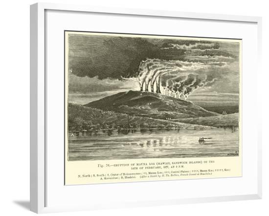 Eruption of Mauna Loa--Framed Giclee Print