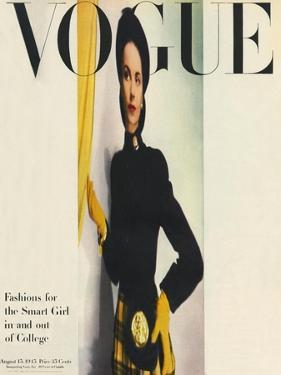 Vogue Cover - August 1945 by Erwin Blumenfeld