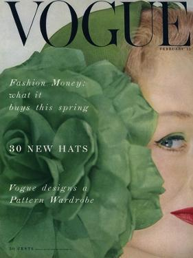 Vogue Cover - February 1953 by Erwin Blumenfeld