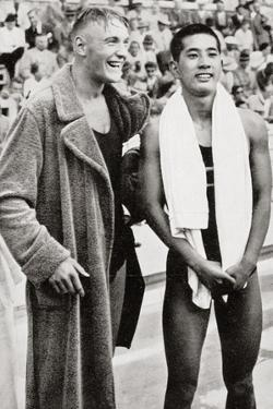Erwin Sietas and Tetsuo Hamuro at the Berlin Olympics, 1936, Erwin Sietas (