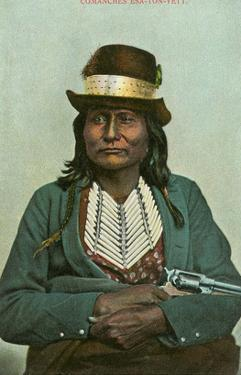 Esa-Ton-Yett, Comanche with Six-Shooter