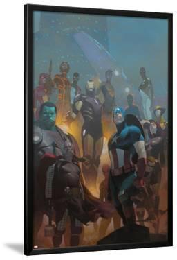 Avengers #24 Cover: Wolverine, Black Widow, Captain America, Spider-Man, Iron Man, Hulk, Thor by Esad Ribic