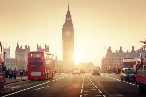 Westminster Bridge at Sunset, London, UK by ESB Professional