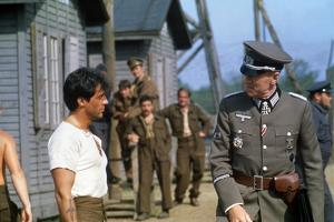 ESCAPE TO VICTORY, 1981 directed by JOHN HUSTON Sylvester Stallone and Max von Sydow (photo)