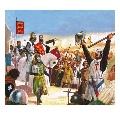 Richard the Lionheart Arriving at Acre