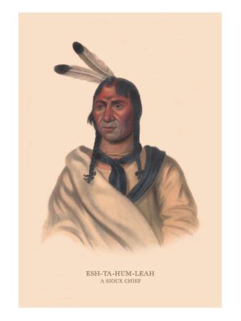 Esh-Ta-Hum-Leah, Sioux Chief