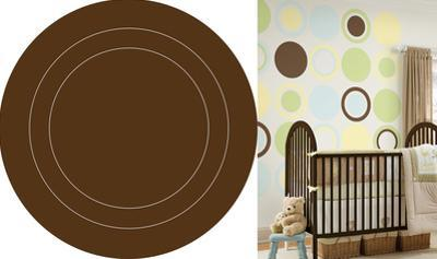 Espresso Brown Concentric Dot Wall Decal Sticker