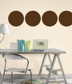 Espresso Brown Dot Wall Decal Sticker