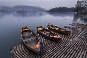 Boats on Lake Bled by esslingerphoto.com