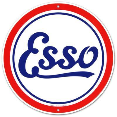 Esso Oil Gasoline Logo Round