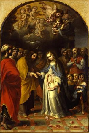 The Marriage of the Virgin, c.1693 by Esteban Márquez de Velasco