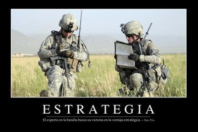 Estrategia. Cita Inspiradora Y Póster Motivacional