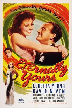 Eternally Yours, Virginia Field, Zasu Pitts, Loretta Young, David Niven, 1939