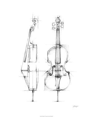 Cello Sketch by Ethan Harper