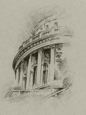 Charcoal Architectural Study I by Ethan Harper