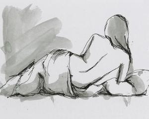 Draped Nude II by Ethan Harper