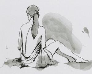Draped Nude III by Ethan Harper