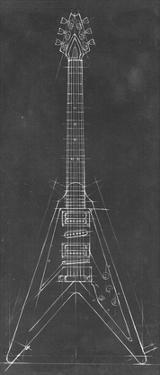 Electric Guitar Blueprint I by Ethan Harper