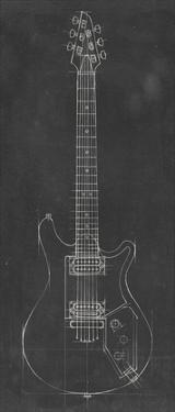 Electric Guitar Blueprint II by Ethan Harper