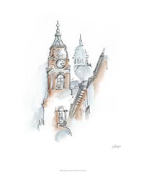 European Watercolor Sketches I by Ethan Harper