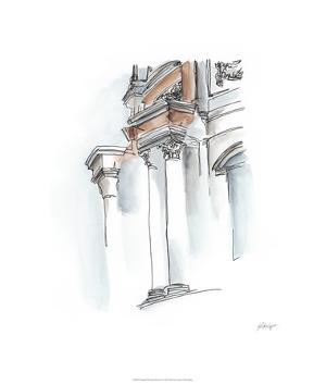 European Watercolor Sketches IV by Ethan Harper