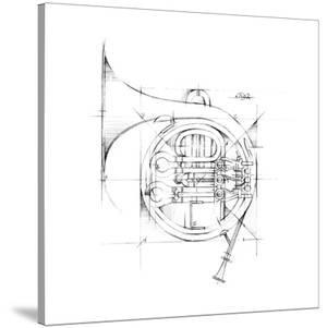 French Horn Sketch by Ethan Harper