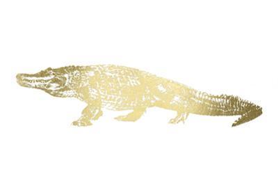 Gold Foil Alligator by Ethan Harper