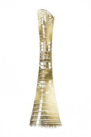 Gold Foil Aspire Tower, Doha by Ethan Harper